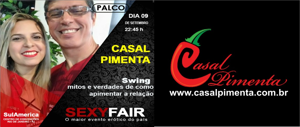 Casal Pimenta fala sobre swing na Sexyfair - Blog Casal Pimenta