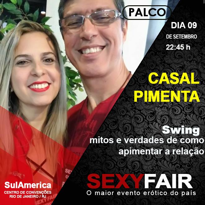 Casal Pimenta swing na SexyFair