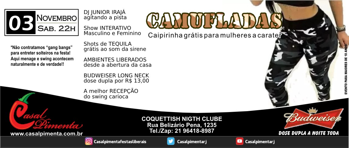 03/11 Festa Camufladas - Blog Casal Pimenta