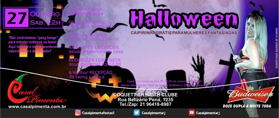 27/10 Festa Halloween - Blog Casal Pimenta