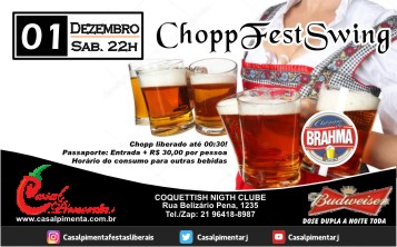 01/12 Festa Chopp Fest Swing - Blog do Casal Pimenta