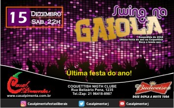 15/12 Festa Swing na Gaiola - Blog do Casal Pimenta