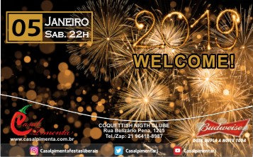 05/01 Festa 2019 Welcome! - Blog do Casal Pimenta