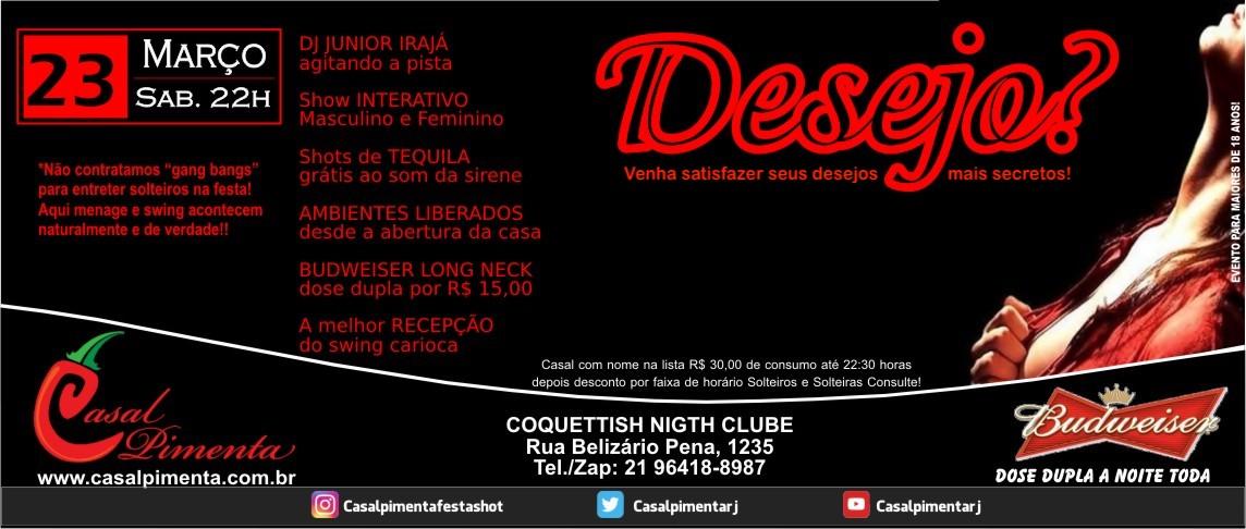 23/03 Festa Desejo? - Blog Casal Pimenta