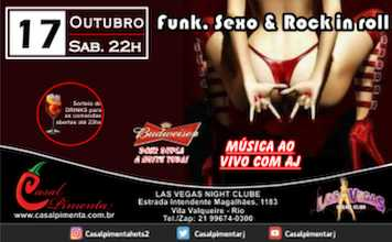 17/10 Festa Funk, Sexo & Rock in roll