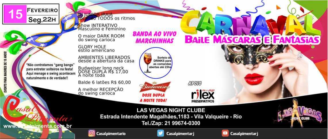 15/02 Baile Máscaras e Fantasias - Blog Casal Pimenta